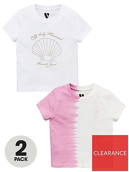 v-by-very-2-pack-girlsnbspmermaid-tie-dye-t-shirts-multi