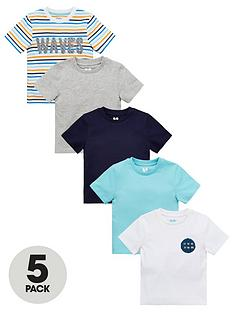 v-by-very-boys-5-pack-sea-print-and-plainnbspshort-sleevenbspt-shirts-multi
