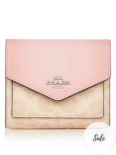 coach-colourblock-coated-canvas-small-purse-pink