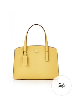 coach-charlie-28-polished-pebble-leather-cross-body-bag-yellow
