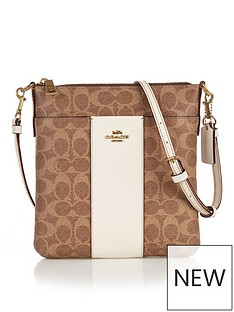 coach-kitt-colourblock-coated-canvas-signature-print-cross-body-bag-tanwhite