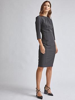 dorothy-perkins-high-neck-dress-black