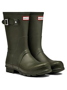 hunter-original-short-wellington-boot-dark-olive