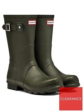 hunter-original-short-wellington-boot-dark-olive