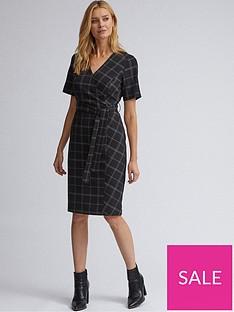 dorothy-perkins-dorothy-perkins-edit-check-dress--black