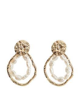 mango-gold-pearl-hoop-earrings-gold