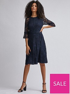 dorothy-perkins-cropped-sleeve-tilly-midi-dress-navy