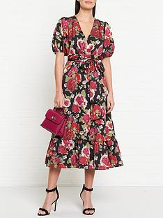 talulah-envision-floral-print-wrap-midi-dress-black