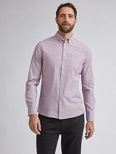burton-menswear-london-fleurdelis-print-long-sleeve-shirt-pink