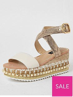 river-island-wide-fit-stud-flatform-sandals-beige