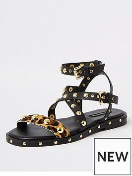 river-island-river-island-leather-and-stud-gladiator-sandal-black