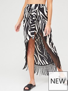 river-island-river-island-animal-print-tassel-wrap-beach-skirt-white