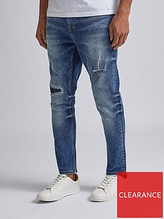 burton-menswear-london-washed-carrot-fit-jeans-blue
