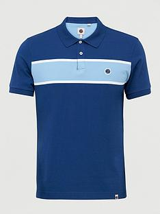pretty-green-lloyd-panel-polo-shirt-navy