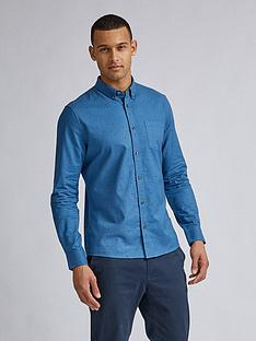 burton-menswear-london-diamond-geo-print-long-sleeve-shirt-blue