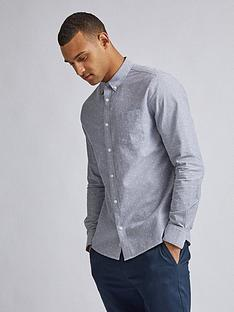 burton-menswear-london-split-scale-print-shirt-grey