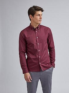 burton-menswear-london-geo-print-long-sleeve-shirt-burgundynbsp