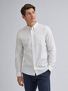 burton-menswear-london-arrow-print-long-sleeve-shirt-white