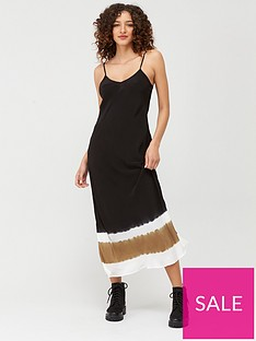 religion-tye-dye-dipped-slip-dress-black