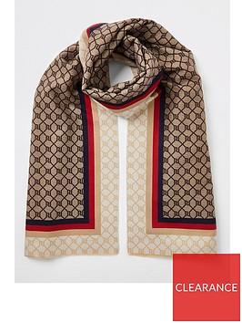 river-island-river-island-monogram-colour-mix-woven-scarf