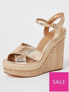 river-island-wide-fitnbspmetallic-wedge-heels-gold