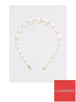 river-island-river-island-pearl-beaded-hair-band-white