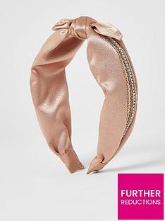 river-island-river-island-raffia-trim-bow-alice-band-pink