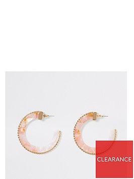 river-island-river-island-ombre-pastel-acrylic-diamante-trim-hoop-earrings-pink