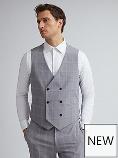 burton-menswear-london-burton-check-slim-fit-suit-waistcoat