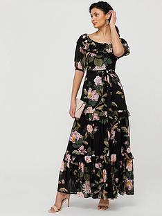 monsoon-keya-sustainable-floral-maxi-dress-black