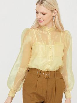 monsoon-olga-organza-blouse-yellow
