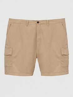 lyle-scott-big-amp-tall-cargo-shorts-stone