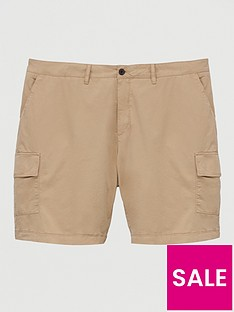 lyle-scott-big-amp-tall-cargo-shorts-stone