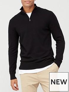 very-man-zip-neck-jumper-black
