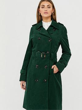 monsoon-cora-cord-trench-coat-teal