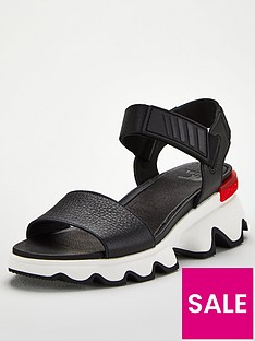 sorel-kinetic-sporty-low-leather-wedge-sandal-black