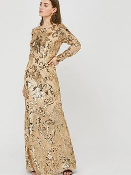 monsoon-long-sleeve-sequin-maxi-dress-rose-gold