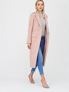 river-island-river-island-double-breasted-military-coat-light-pink
