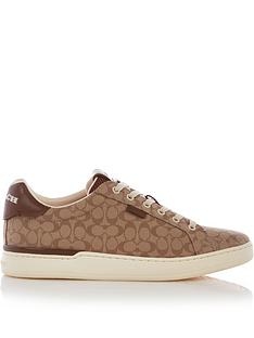 coach-signature-jacquard-low-top-trainers-tanbrown