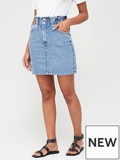 v-by-very-paperbag-waist-denim-skirt-mid-wash