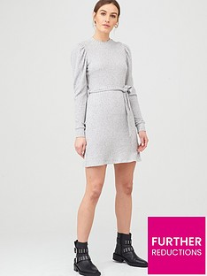 river-island-river-island-cosy-jersey-belted-dress-grey