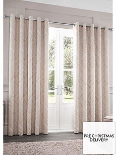 catherine-lansfield-myles-jacquard-eyelet-curtainsnbsp
