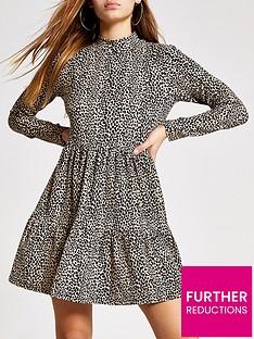 ri-petite-ri-petite-animal-print-jersey-smock-dress-brown