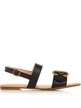coach-jen-c-buckle-sandals-black