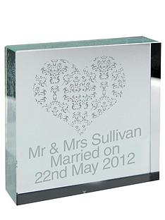 personalised-damask-heart-crystal-block