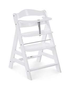 hauck-alpha-wooden-highchair-white