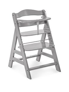 hauck-alpha-wooden-highchair-grey