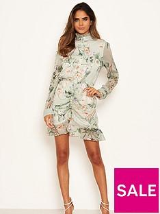 ax-paris-chiffon-printed-shirt-dress-mint