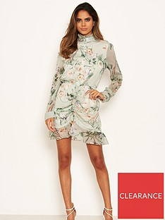 ax-paris-chiffon-printed-shirt-dress-mint