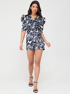 ax-paris-satin-printed-playsuit-navy